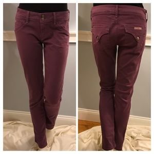 Hudson Plum Collin Skinny Jeans with Flap Pocket